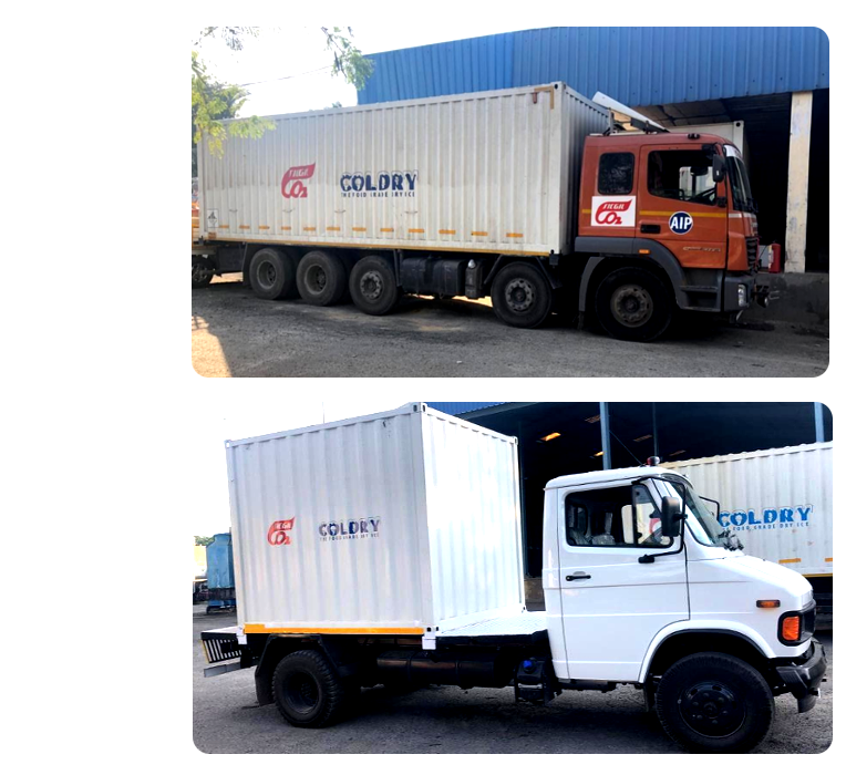 Dry Ice cold chain transportation